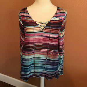 Sanctuary Long Sleeve Blouse/Tunic size s
